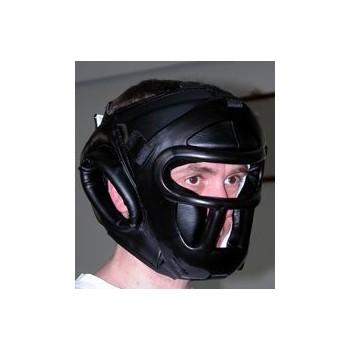 Kopfschutz mit Gitter Leitai, schwarz (Art. Nr. 10507)