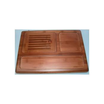 Traditionelles Teeboard aus Bambus, mit Ablauf (Art. Nr. 15002)